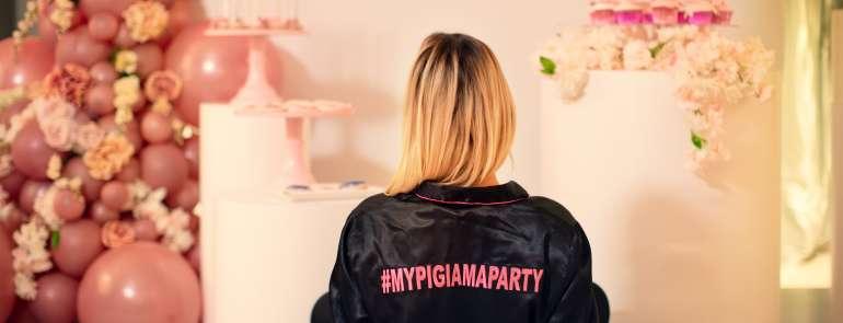 Un elegante #pigiamaparty per festeggiare i 30 anni di Michela Quattrociocche