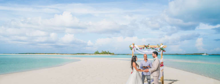 Il Winter Wedding alle Bahamas