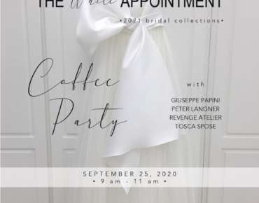 THE WHITE APPOINTMENT Milano settembre 2020