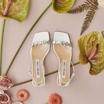 La scarpa sposa personalizzata di Sergio Rossi