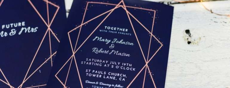 Una partecipazione alle nozze perfetta