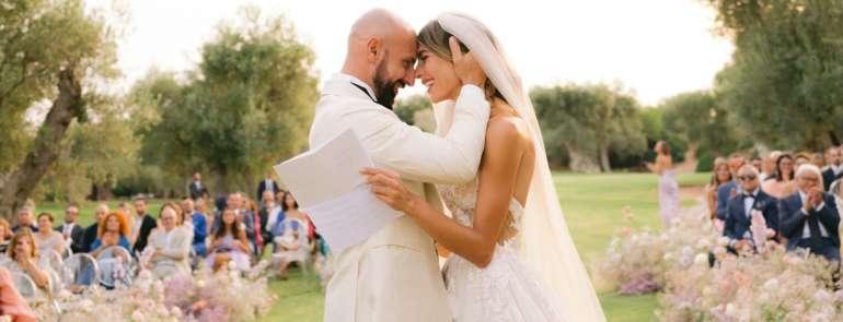 Le nozze da sogno di Valentina Melpignano e Mirko Ciaccia