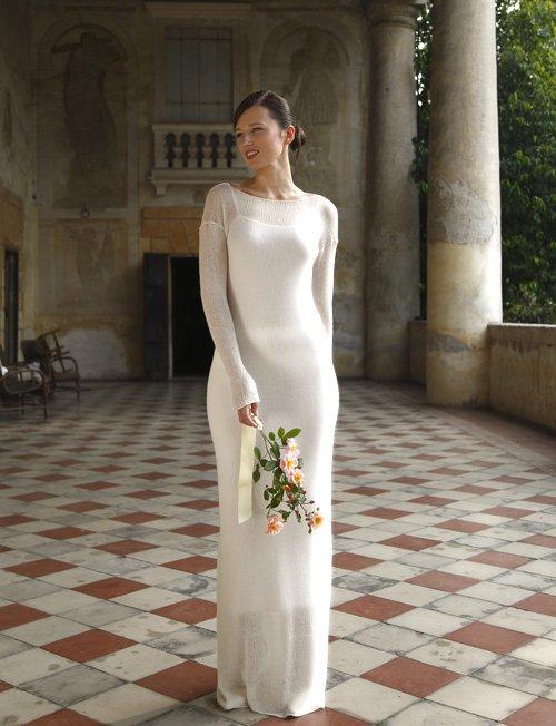 abito da sposa in cashmere