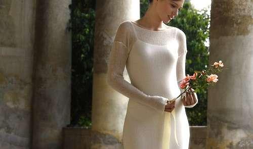 L'abito da sposa in cashmere per i mesi più freddi